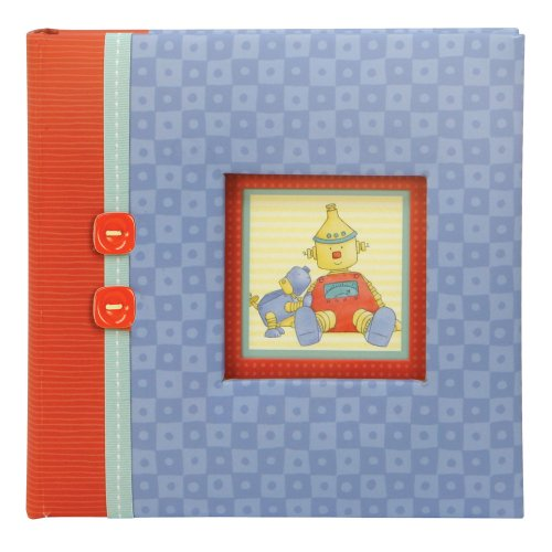 C.R. Gibson Slim Compact Journal Album For Photos, Baby Bots front-89098