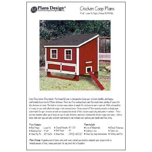 4x6 chicken coop hen house plans lean to roof style for 4x6 chicken coop