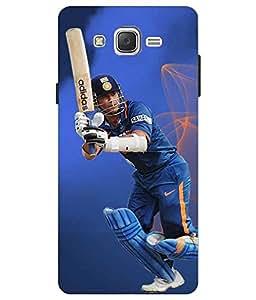 Make My Print Cricket Printed Blue Hard Back Cover For Samsung Galaxy J2