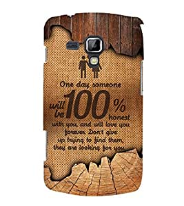 Honest Love 3D Hard Polycarbonate Designer Back Case Cover for Samsung Galaxy S Duos S7562