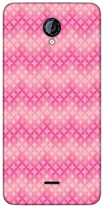Snoogg Star Pink Circular Pattern Designer Protective Back Case Cover For Mic...