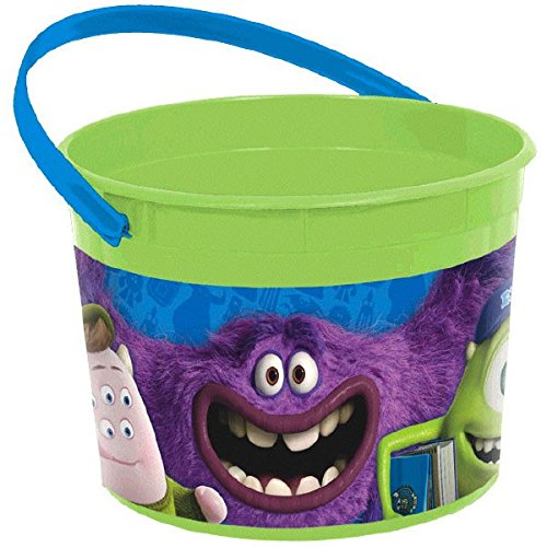 Amscan Monsterrific Disney Monsters University Party Favor Plastic Cup, 16 oz, Green/Blue