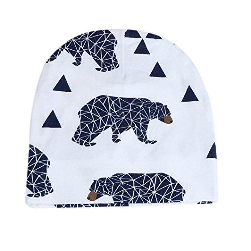 New Toddler Kids Girls Boys Winter Warm Crochet Knit Hat Beanie Cap by FEITONG (Navy)