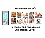 Lifetime Warranty FDA cleared 2014 version HealthmateForever TENS unit10 mode HM10AB 2in1 double value 10 modes handheld Electronic Pulse Massage for electrotherapy Pain Management. Portable digital palm massagers, full body pain relief product electronic pulse plus digital pulse mini micro massager pro black