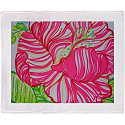 CafePress Hibiscus in Lilly Pulitzer Throw Blanket - Standard Multi-color