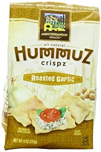 Mediterranean Snack Hummuz Crispz Snack, Roasted Garlic, 4 Ounce