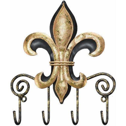 Hanging Hooks Key Rack Fleur de Lis - Regal Art #5028