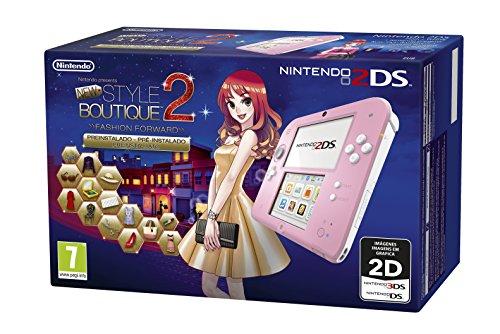 Nintendo 2DS, Rosa + N. Style Boutique 2 Preinstallato [Bundle]