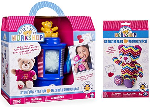 Build-A-Bear Workshop Stuffing Station and Rainbow Bear Refill Pack 2 Piece Bundle (Build A Bear Bundle compare prices)