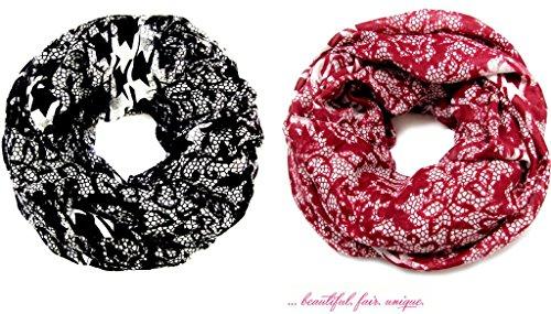 accessu-Echarpe-Foulard-pour-Femme-Lace-Dogsthooth-Design