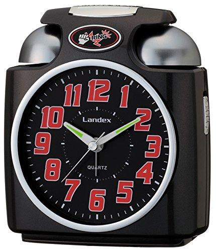 LANDEX(ランデックス) 大音量目覚まし時計 ガチベル アナログ表示 ブラック YT5243BK