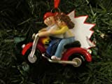 Couple on Motorcycle Ornament