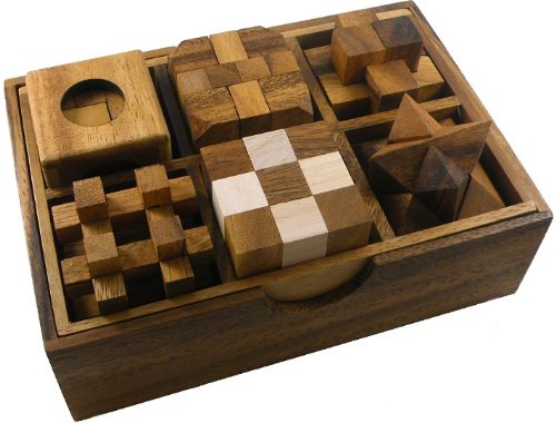 Cheap Winshare and Games 6 Wooden Puzzle Gift Set In A Wooden Box (B005JEE3IW)