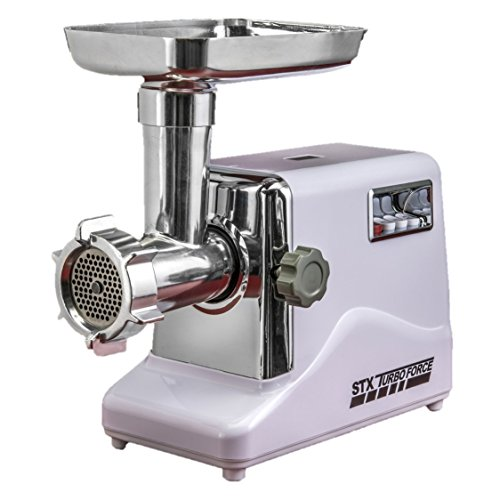 STX INTERNATIONAL STX-3000-TF Turboforce 3-Speed Electric with 3 Cutting Blades, 3 Grinding Plates, Kubbe Attachment and Sausage Stuffing Tubes (Weston 22 Meat Grinder compare prices)