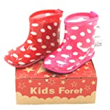 KidsForet キッズフォーレ ドットプリントレインシューズ 長靴