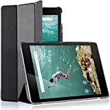 MOFRED® Black Ultra Slim HTC Nexus 9 (2014 Version) Leather Case Cover, With Magnetic Auto Wake & Sleep Function + Screen Protector + Stylus Pen