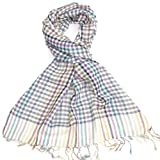 Checked Scarf for Men & Women - Colourful long unisex check scarf - Available in Yellow, Green, White, Blue, Grey