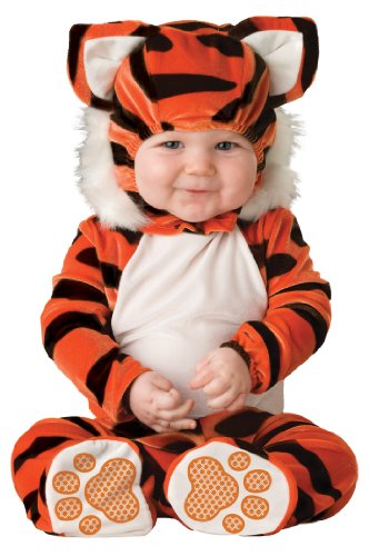 Lil Characters Unisex-baby Infant Tiger Costume, Orange/Black/White, 12-18 months