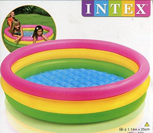 Intex - 57412- Piscine 3 Boudins Fond Gonflable