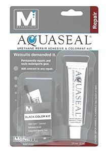 McNett Aquaseal Urethane Repair Adhesive and Sealant Tube, 3/4-Ounce + Black Colorant Kit