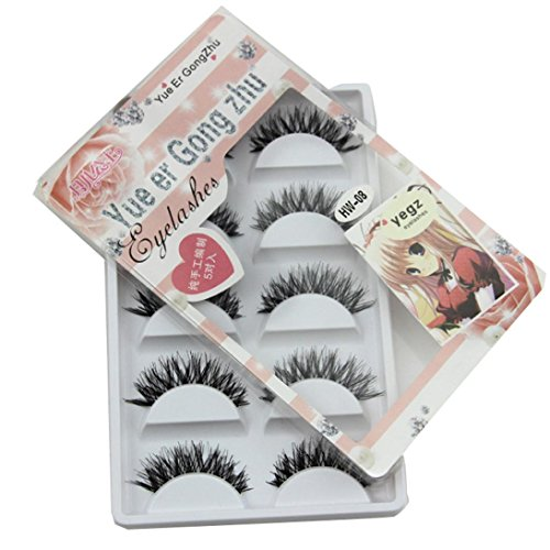 Leoy88 5 Pair/Lot Crisscross False Eyelashes Lashes Voluminous Hot for Cosmetic
