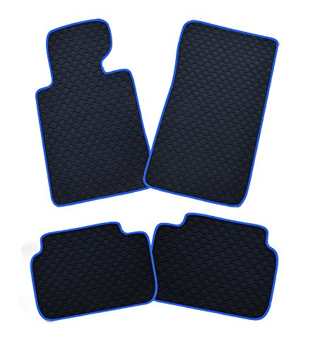 Gummimatten Rand blau für MAN F2000 vl+vr+Mittelkonsole,3-tlg LKW