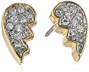 Juicy Couture Best Friend Pave Stud Earrings