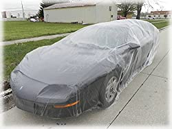 See Signstek Disposable Plastic Car Cover---Dust Cover/ Rain Cover/ Paint Cover/ ---for All Cars (Small) Details