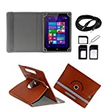 ECellStreet Tablet Flip Cover Universal Diary Folio Case With Stand And 360° Degree Rotation For Apple IPad Air...