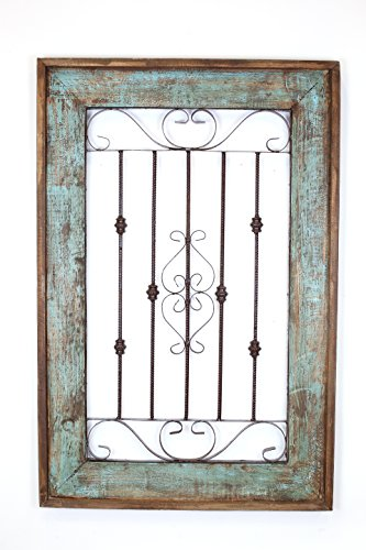 Spanish Large Architectural Window-Turquoise 0