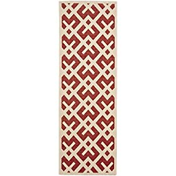 Safavieh Courtyard Collection CY6915-238 Red and Bone Indoor/ Outdoor Runner, 2 feet 3 inches by 8 feet (2\'3\