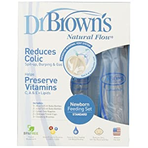 Dr. Brown's BPA Free Polypropylene Natural Flow Bottle Newborn Feeding Set