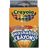 Crayola Washable Crayons 16 per box (2 Pack) [Personal Care]
