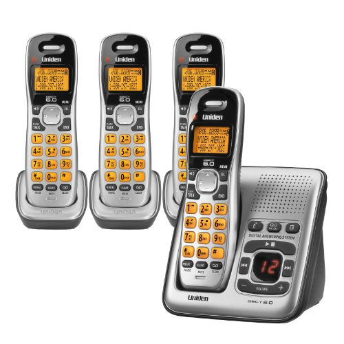 Uniden D1484-4 2.4 GHz Radio Frequency 4-Handset Landline Telephone