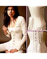 Timeless S-44 White Solid Satin Underbust Corset