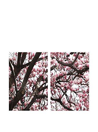 Art Addiction Cherry Blossoms Close Up Set of 2, Multi, 36