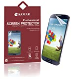 SAMAR� - Supreme Quality Samsung Galaxy S4 Crystal Clear Screen Protector (Pack of 6) Retail Packed - Includes Microfiber Cleaning Cloth