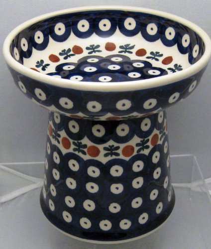 Polish Pottery Raised Food Dish or Water Bowl - Mosquito
