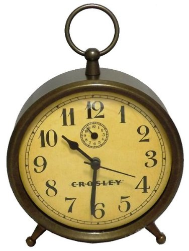 Analog Clock with Finial - Antique Bronze-Crosley