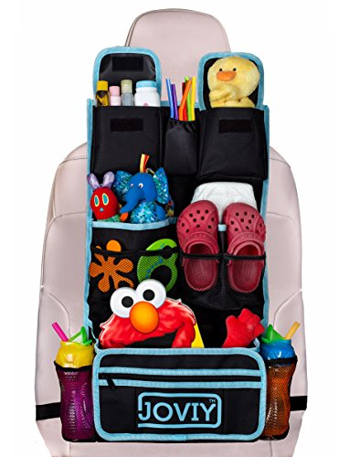 SALE Joviy Backseat Organizer with Multiple Compartments for Easy Organizing Baby and Toddler Items for Car Travels and Road Trips - No Mess, No Lost Items, No Problem! Lifetime Guarantee