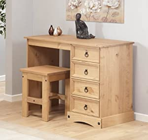 dressing table with stool aztec light corona solid pine. Black Bedroom Furniture Sets. Home Design Ideas