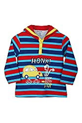 Chirpie Pie by Pantaloons Boy's Hooded T-Shirt (205000005609951, Red, 9 - 12 Months)