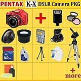 Pentax K-x Digital SLR Camera Kit (Red)