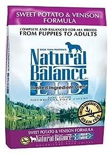 Natural Balance L.I.D. Limited Ingredient Diets Sweet Potato & Venison Formula Dry Dog Food, 26-Pound