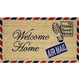 JVL - Felpudo (fibra de coco y PVC, 40 x 70 cm), diseño de carta con texto Welcome Home   Comentarios y más información