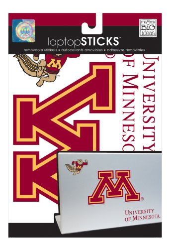 me & my BIG ideas laptopSTICKS Removable Laptop Stickers, Minnesota Golden Gophers