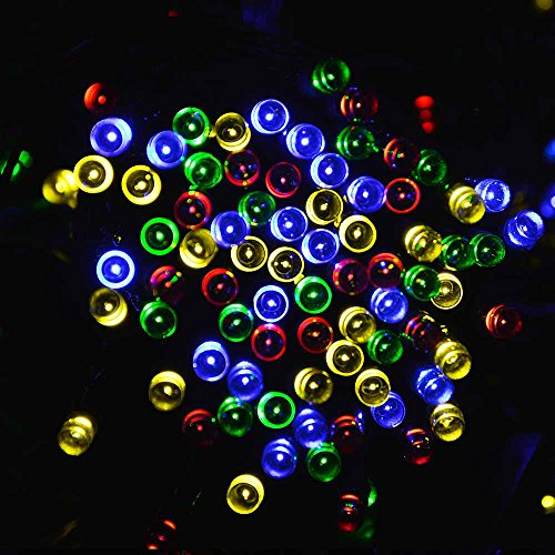 lederTEK Solar Christmas Lights 72ft 22m 200 LED 8 Modes Solar Fairy String Lights for Outdoor, Gardens, Homes, Wedding, Christmas Party, Waterproof (200 LED Multi-color)