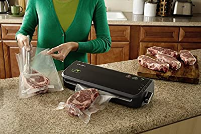 FoodSaver Vacuum Sealing System FM2000 Food Sealer with Starter Kit, Black (Certified Refurbished) by FoodSaver