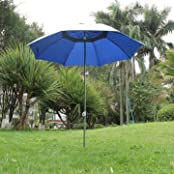 Outdoor Anti-uv Sun Protection Garden Umbrella With Iron Pole