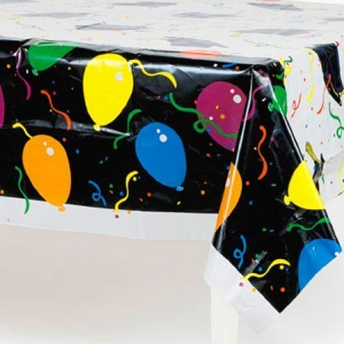 Balloon Print Graduation Tablecloth (1 pc)